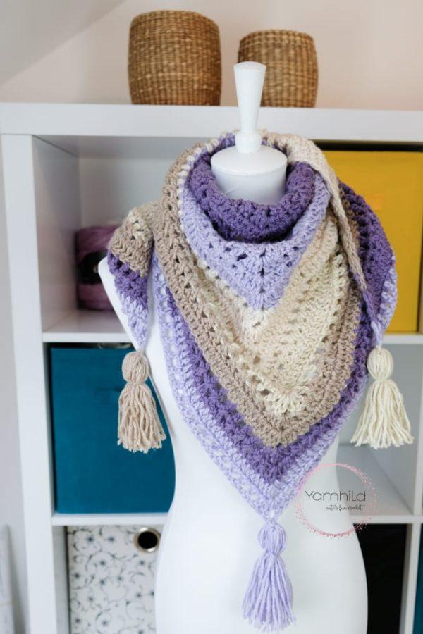 Heklesjal - Lavendeldrøm - Norsk heleoppskrift på sjal