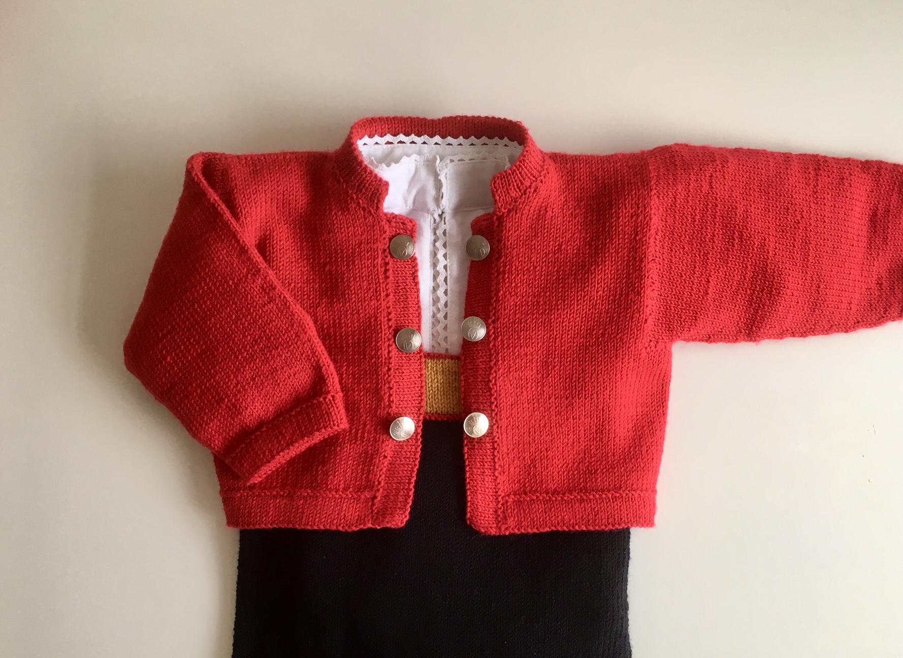 f333e573 Bunad jakke til gutt og jente baby | Strikkoteket