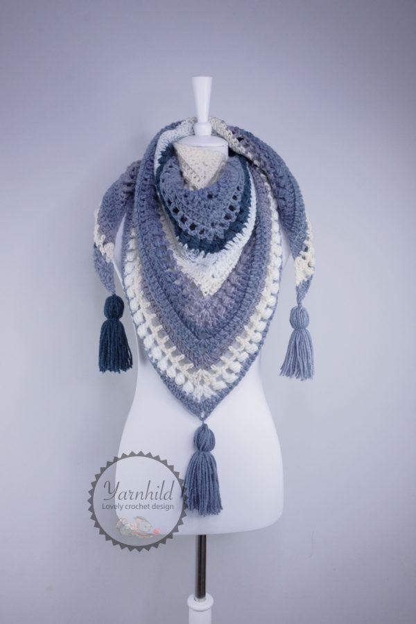 Hekleoppskrift på sjal