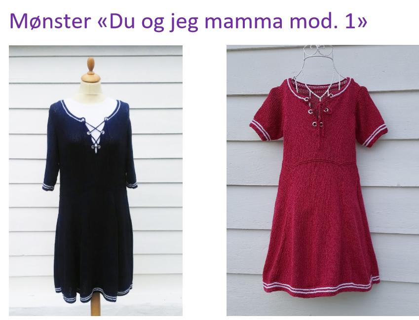 Du og jeg mamma 1 maritim kjole
